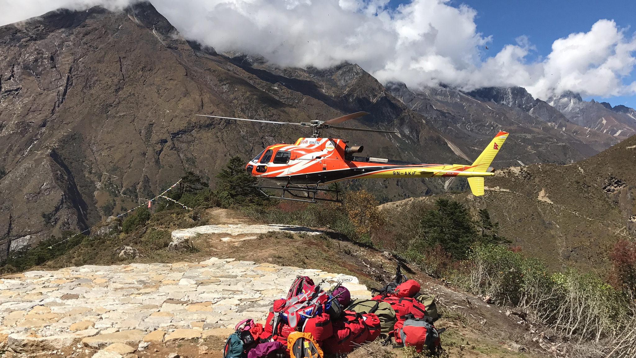 【EBC島峰Gokyo湖】在尼泊爾包直升機下山就是任性。最終章。