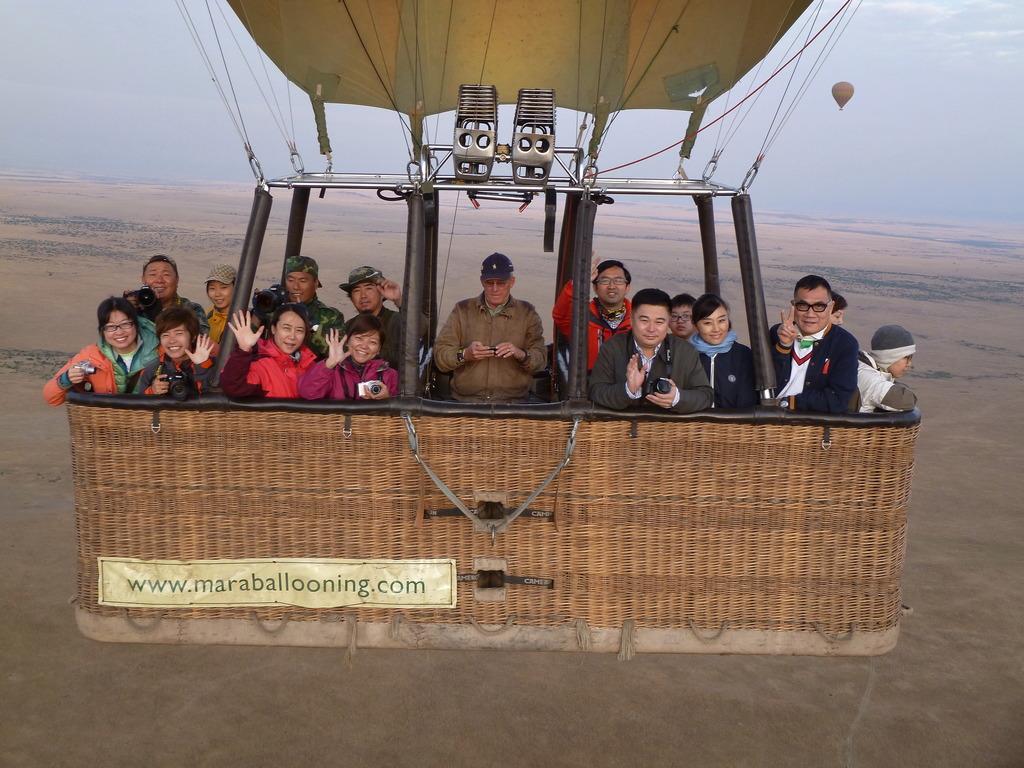 [肯亞]世界上最貴的熱氣球,升空